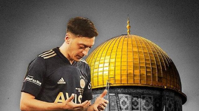 """بصورة للأقصى.. """"أوزيل"""" يهنئ العالم الإسلامي بعيد الفطر"""