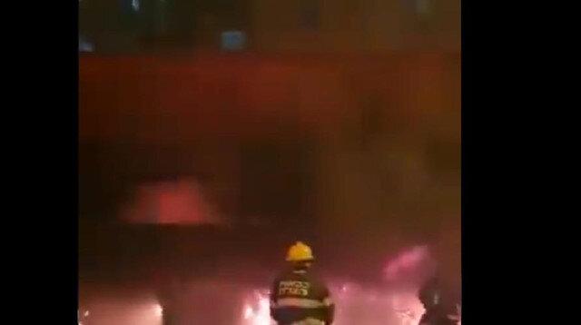 """اشتعال النيران في """"كراج"""" للسيارات في حيفا المحتلة"""