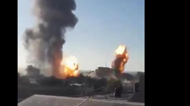 اللحظات الأولى لقصف الاحتلال منازل الفلسطينيين في  قطاع غزة