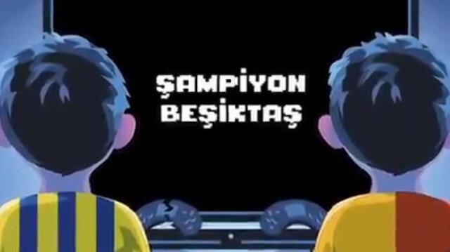 Beşiktaş'tan şampiyonluk göndermesi: