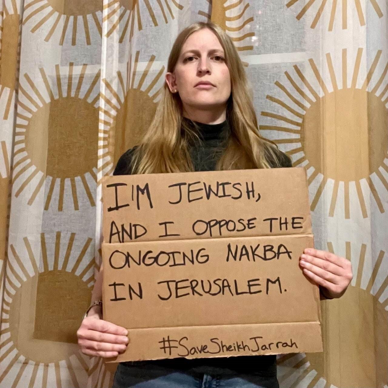 ''Bir Yahudi olarak devam eden Nakba'ya karşıyım''