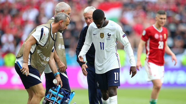 Ousmane Dembele, EURO 2020'yi kapattı