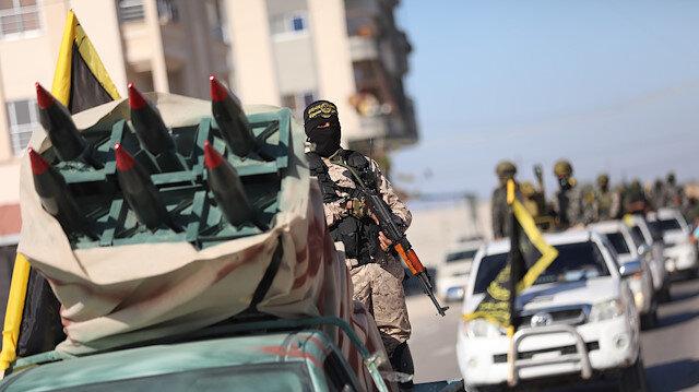 سرايا القدس تنظم عرضا عسكريا في غزة