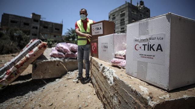 """منذ العدوان.. """"تيكا"""" التركية تغيث غزة بالغذاء والدواء"""