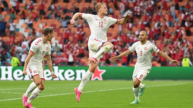 Galler'i farklı geçen Danimarka çeyrek finalde