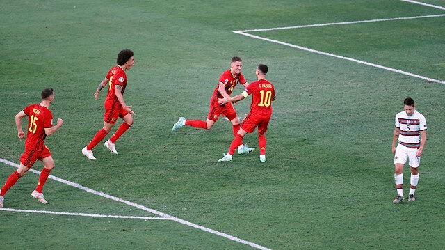 Belçika son şampiyonu eledi ve çeyrek finalde İtalya'nın rakibi oldu