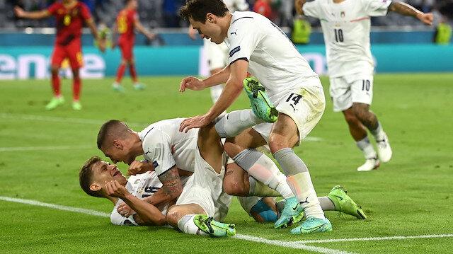 İtalya nefes kesen maçta Belçika'yı eledi ve İspanya'nın rakibi oldu