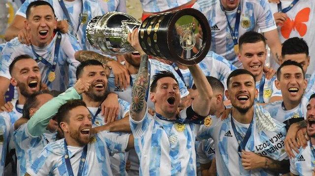 Arjantin Copa America'yı kazandı, Messi bir ilki yaşadı