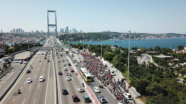 251 motosikletli 15 Temmuz şehitleri için yola çıktı