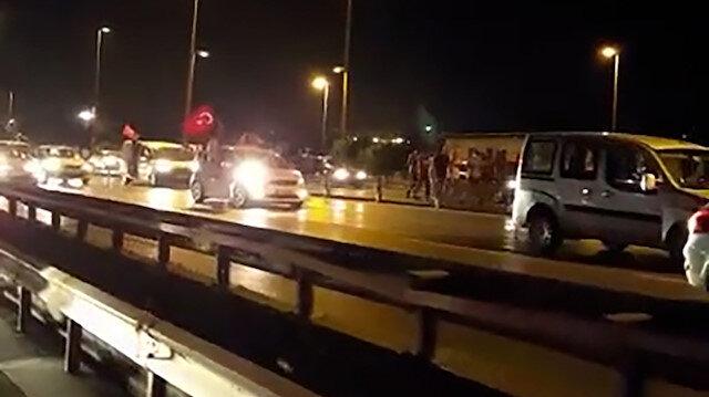 Cumhurbaşkanı Erdoğan'ın çağrısı sonrası sokağa dökülen binlerin ilk kez yayınlanan görüntüleri