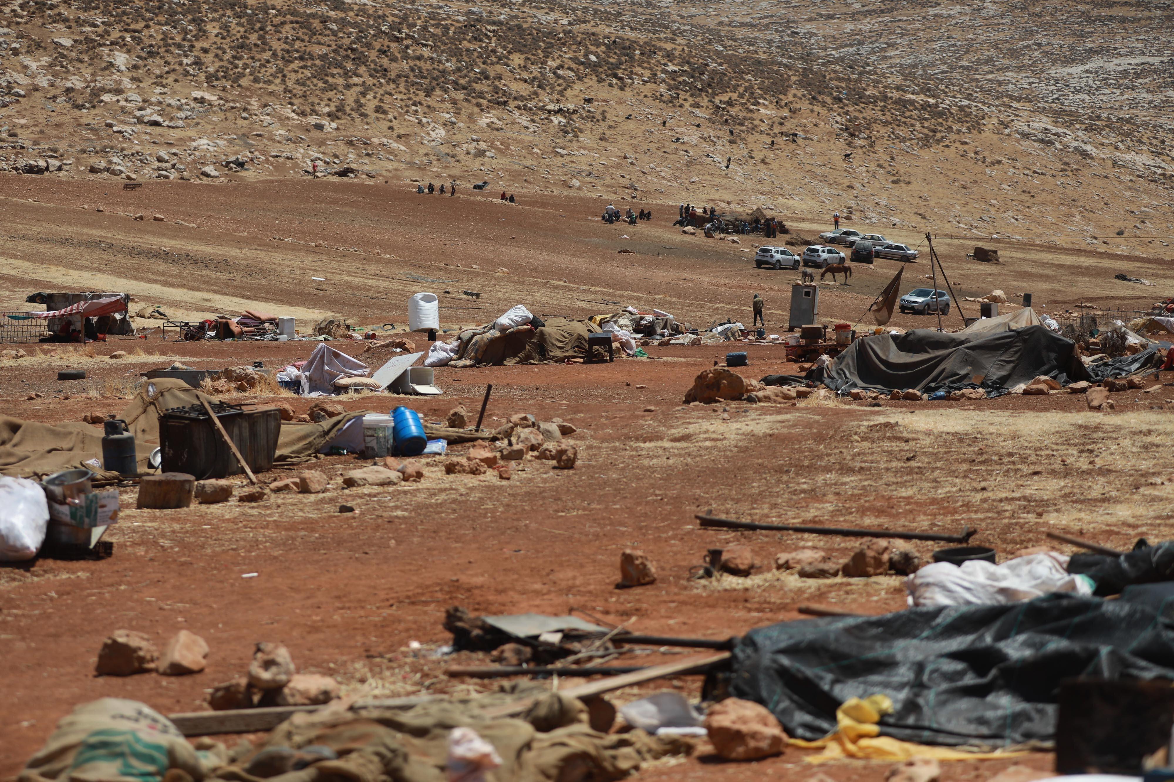11 Filistinli bedevi aile evsiz kaldı.