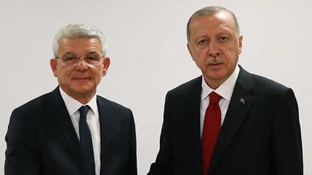 أردوغان وجعفروفيتش يتبادلان التهاني بمناسبة عيد الأضحى