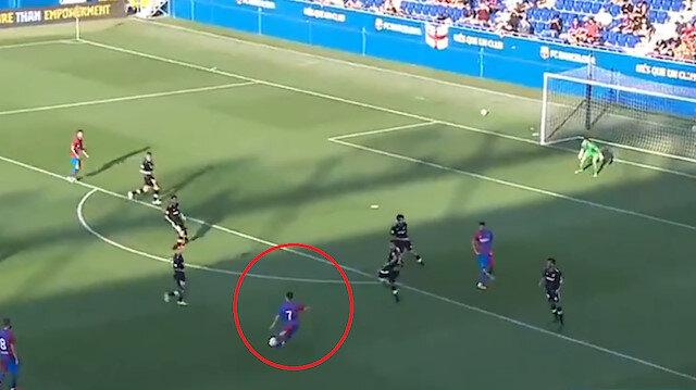 Yusuf Demir Barcelona formasıyla kendine hayran bıraktı