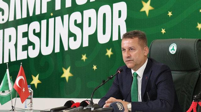 GZT Giresunspor Başkanı Hakan Karaahmet taraftara güveniyor:
