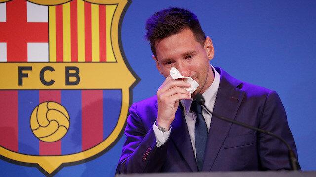 Lionel Messi Barcelona'ya ağlayarak veda etti