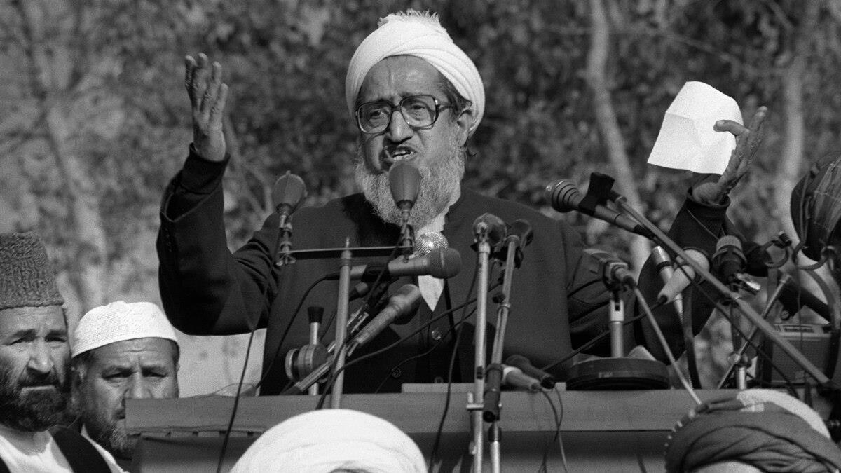 Afganistan İslam Cumhuriyeti'nin ilk devlet başkanı Sıbgatullah Müceddidi.
