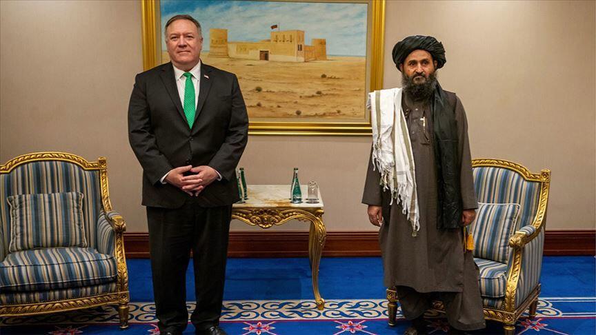 2020 yılında Katar-Doha'da gerçekleşen Taliban ve ABD arasındaki görüşme.
