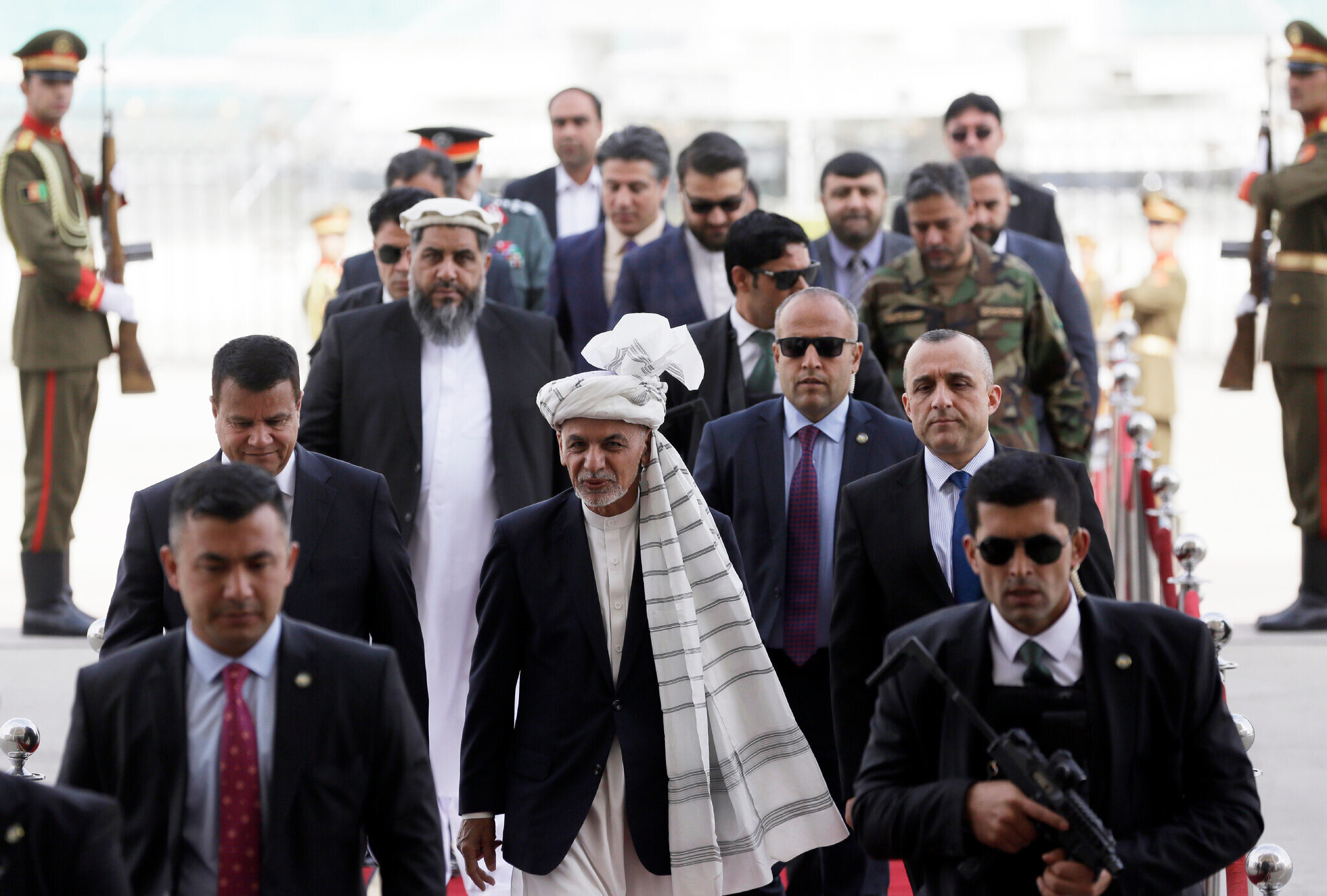 Afganistan'ın mevcut cumhurbaşkanı Eşref Gani.