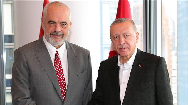 أردوغان يجتمع برئيس وزراء ألبانيا في نيويورك