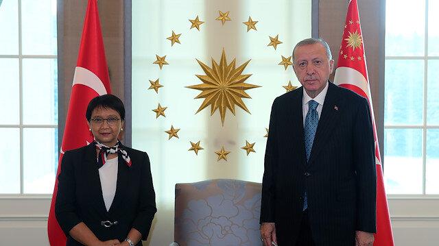 أنقرة.. أردوغان يلتقي وزيرة الخارجية الإندونيسية