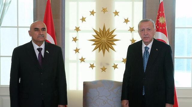 أنقرة.. أردوغان يلتقي رئيس البرلمان الطاجيكي