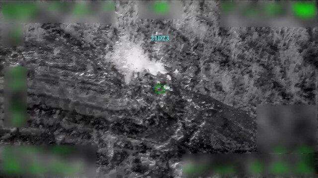 Milli Savunma Bakanlığı 4 PKK'lı teröristin etkisiz hale getirildiği operasyon görüntülerini paylaştı