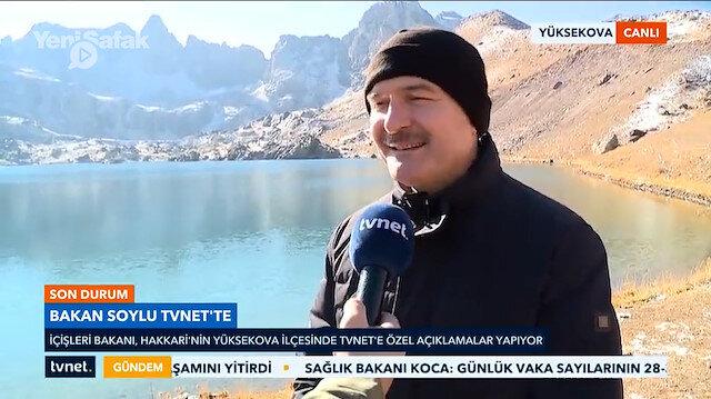 Bakan Soylu terörden temizlenen bölgede TVNET'e konuştu: Hem Hakkari için hem Türkiye için her şey yeniden başlıyor