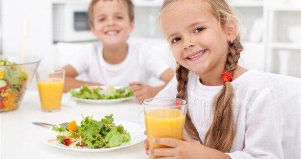 Çocuklara örnek beslenme menüsü