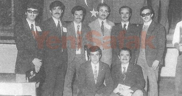 MTTB de etkin olarak görev alan Cumhurbaşkanı Gül, Şefik Aşıkoğlu ve arkadaşlarıyla. (29 Mayıs 1973)