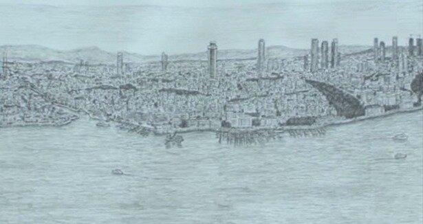 Dahi bellek' İstanbul''u resmetti