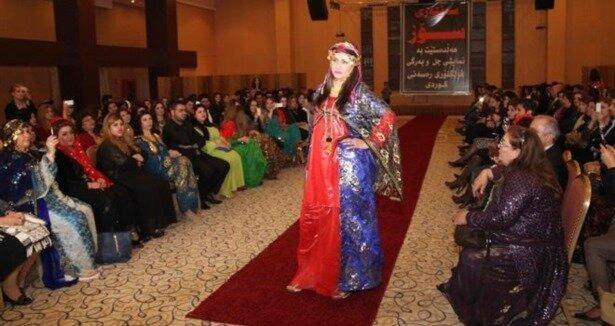 Kürt kıyafetleri defilesi gerçekleştirildi