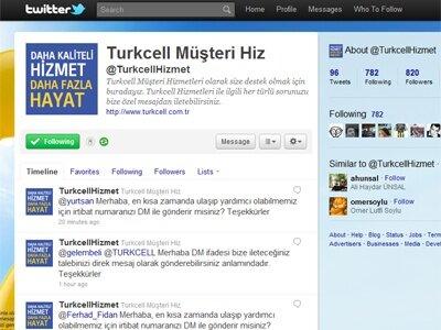 Turkcell Müşteri Hizmetleri Twitterda