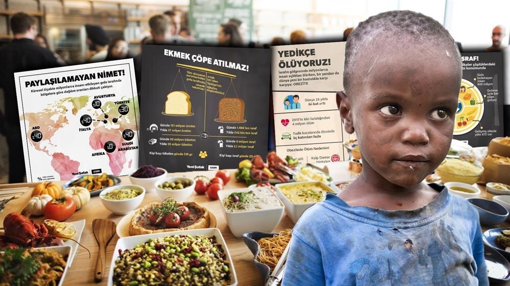 Gıda israfı, küresel ölçekte milyonlarda insanı yakından etkiliyor.