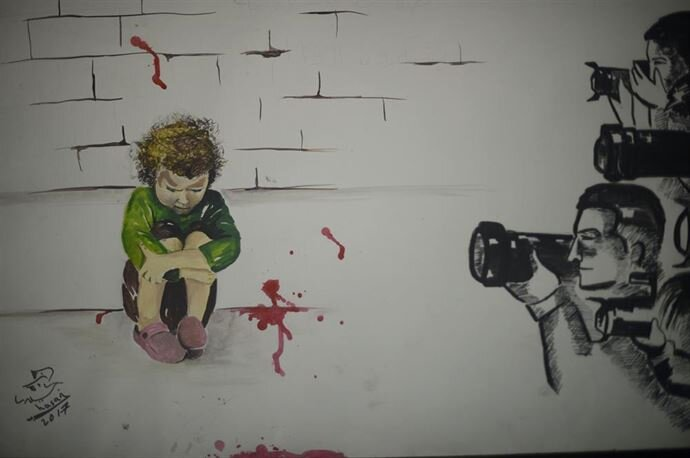 The pain of the Syrians portrayed