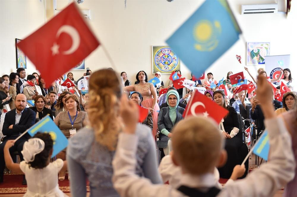 Turkey's first lady visits orphanage in Astana