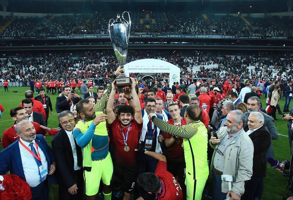 Turkey wins European amputee football championship