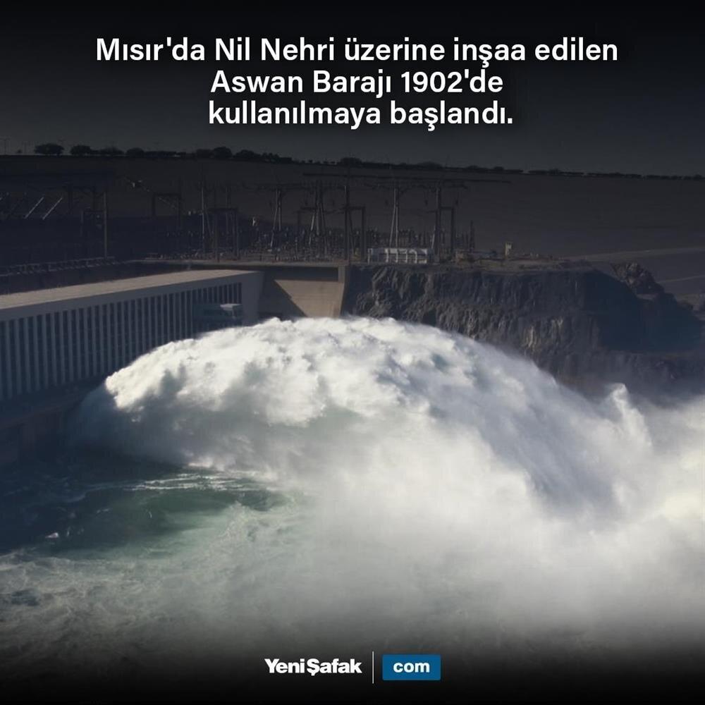 Aswan Barajı açıldı