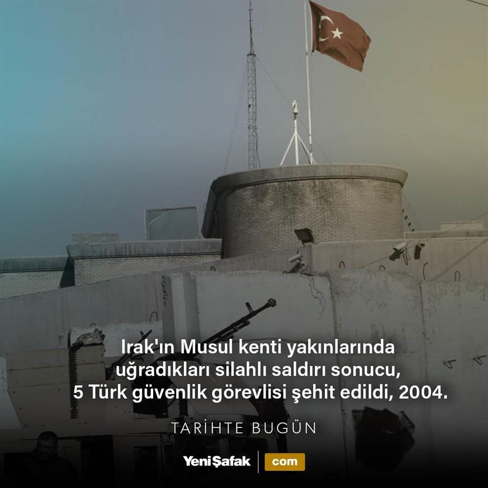 Musul'da 5 Türk şehit edildi