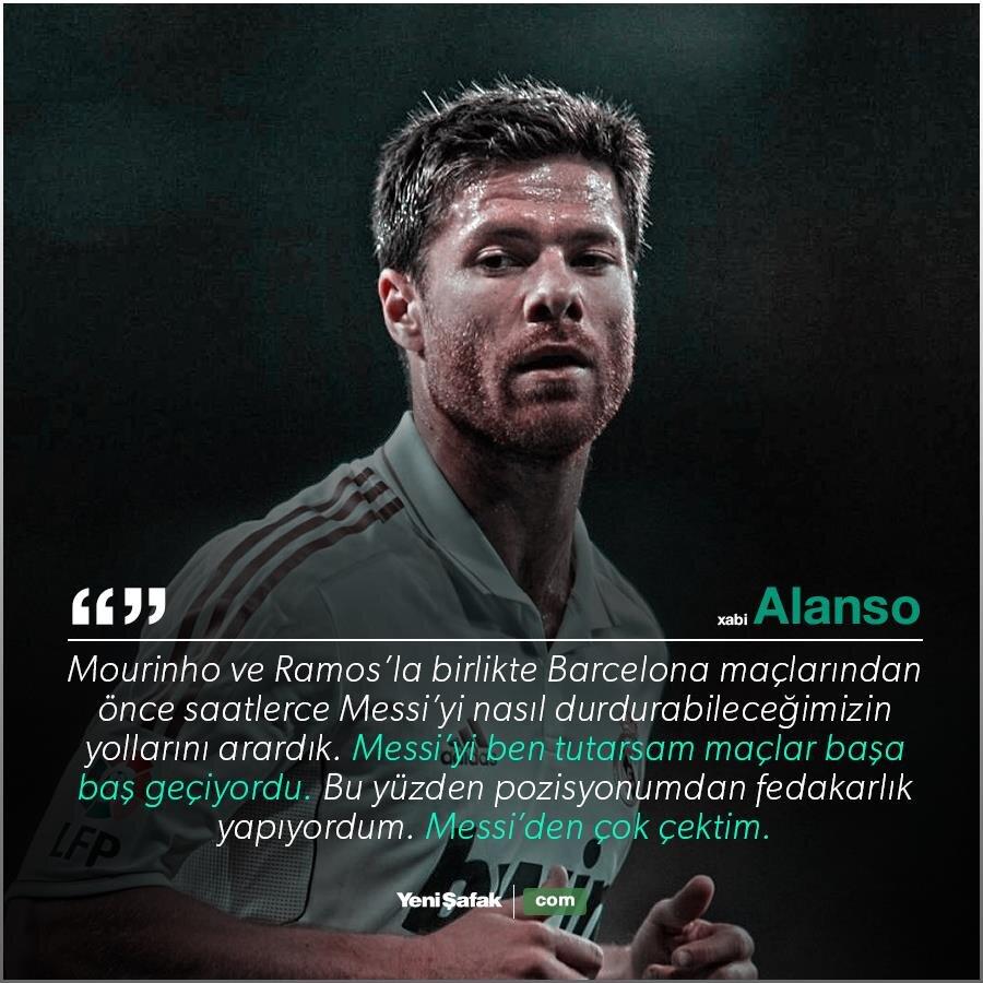 Xabi Alonso: Messi'den çok çektim.