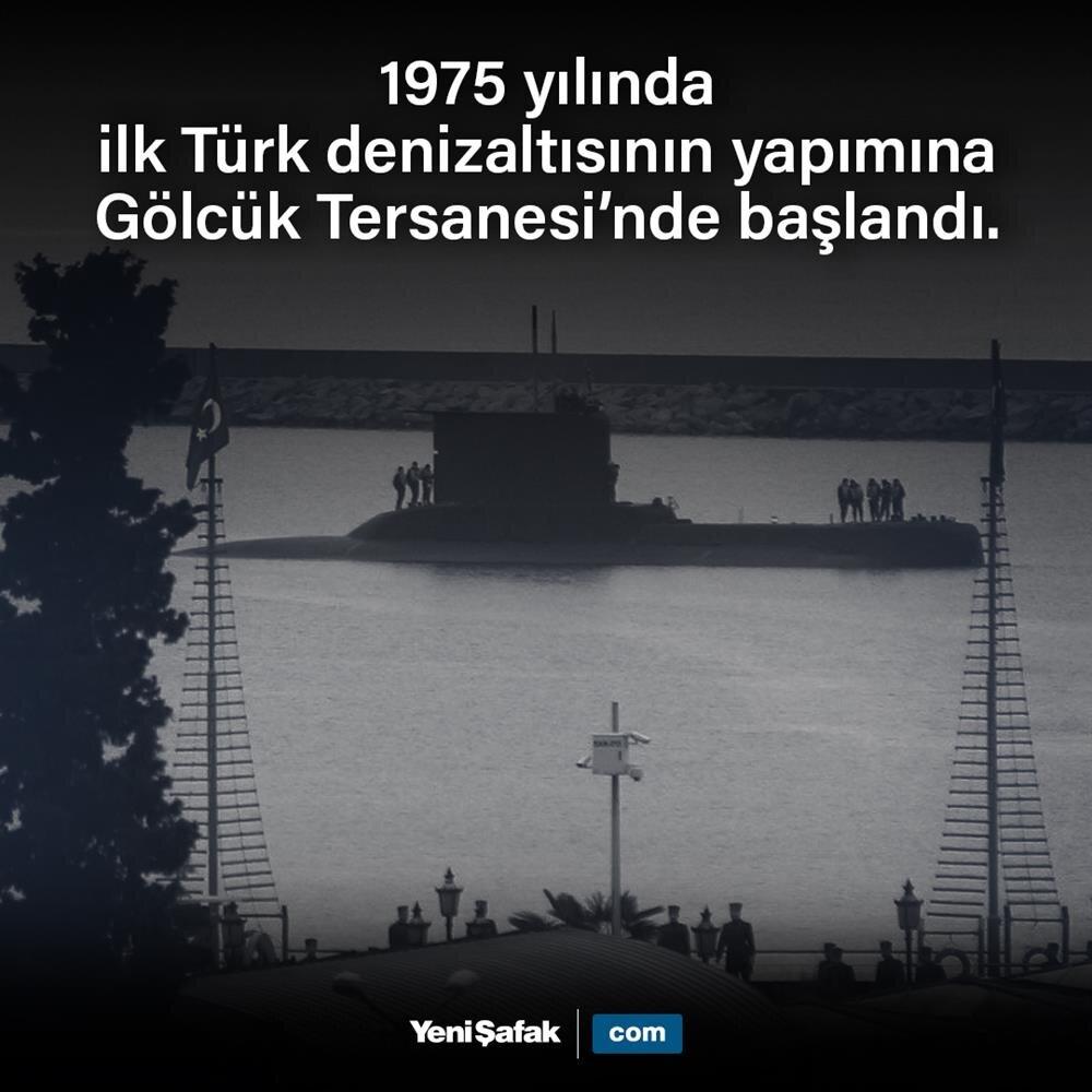 İlk Türk denizaltısının yapımına başlandı