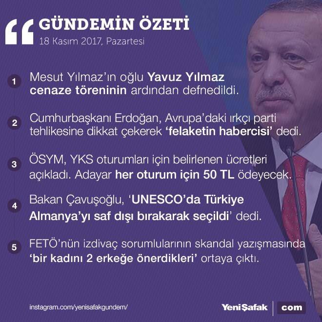 5 başlıkta Türkiye gündemi;