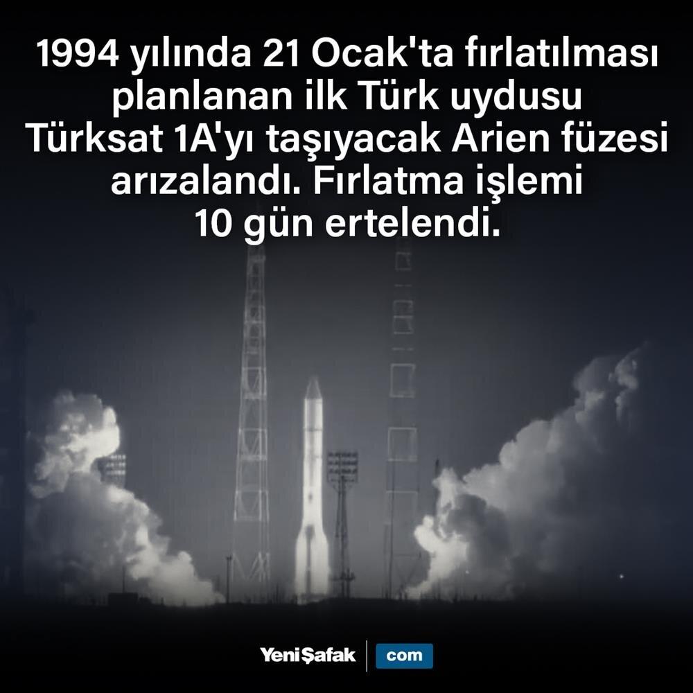 Türksat 1A'yı fırlatma işlemi ertelendi
