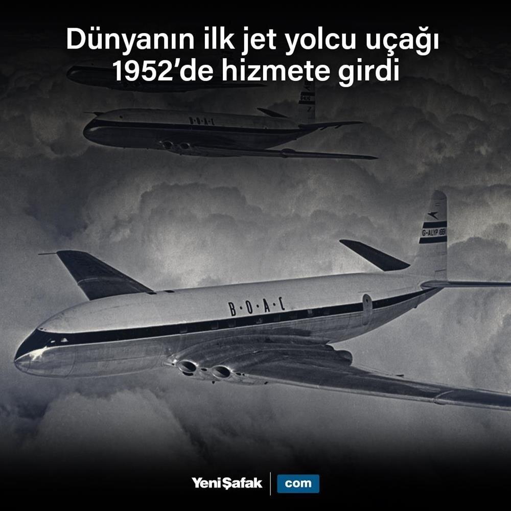 Dünyanın ilk jet yolcu uçağı hizmete girdi