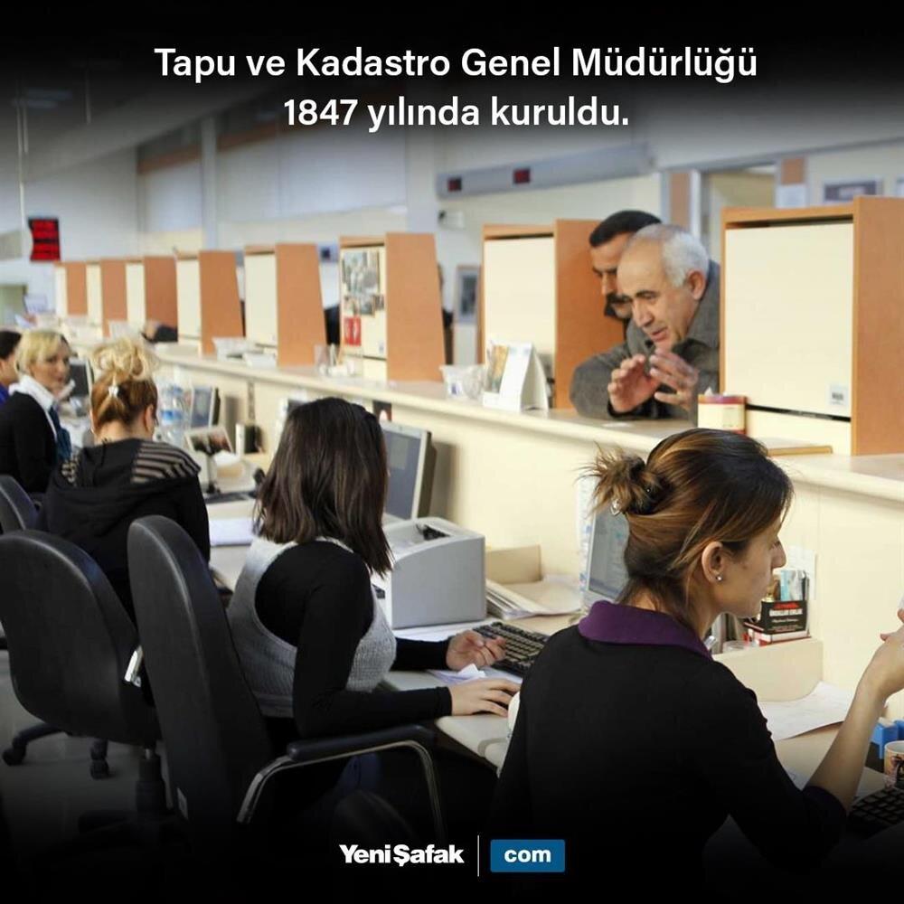 Tapu ve Kadastro Genel Müdürlüğü kuruldu