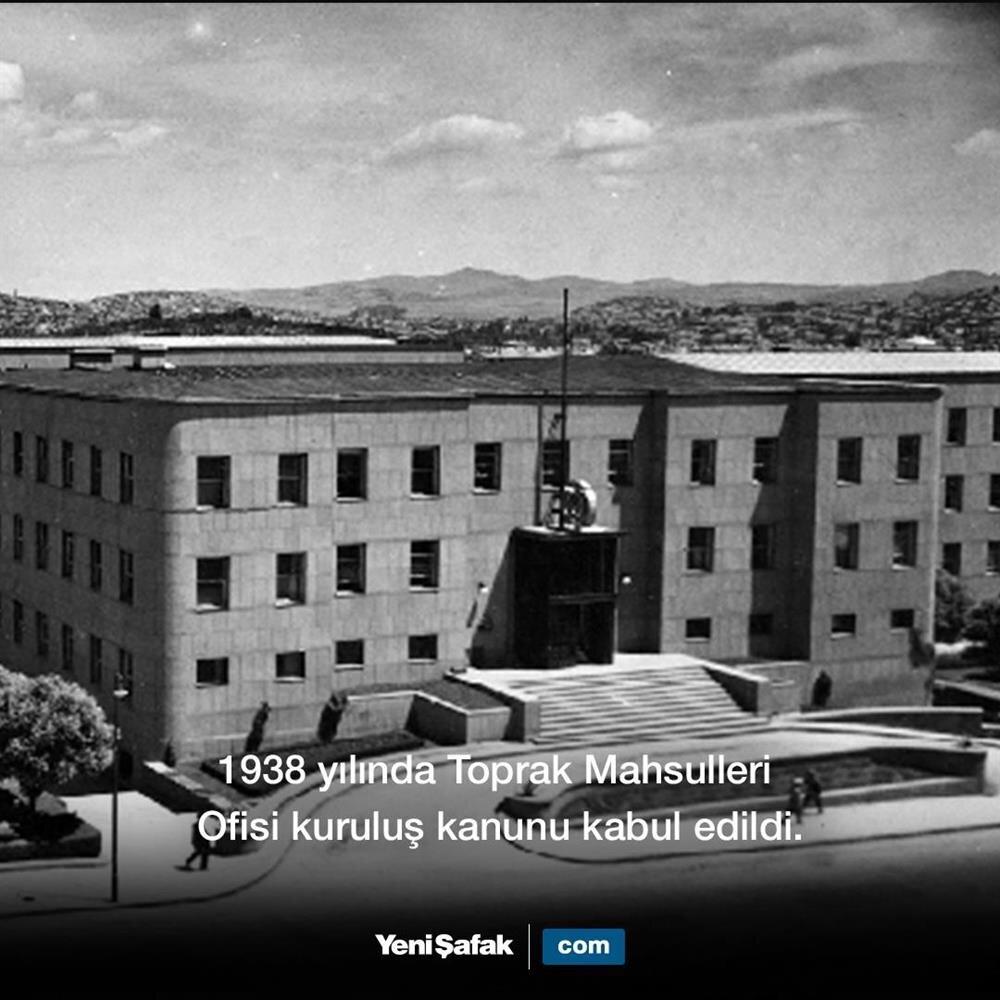 1938 TMO'nun kuruluşu kabul edildi