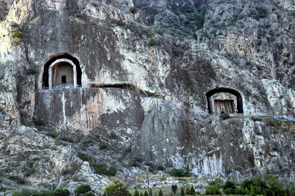 Tombs of the Kings of Pontus in Turkey's Amasya