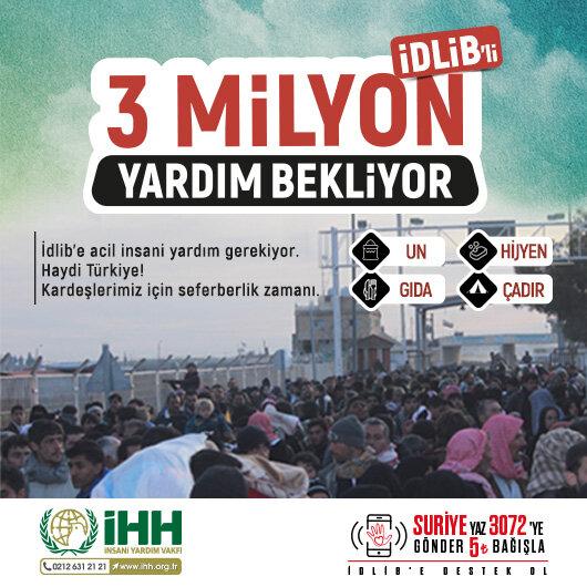 İdlib yardım bekliyor
