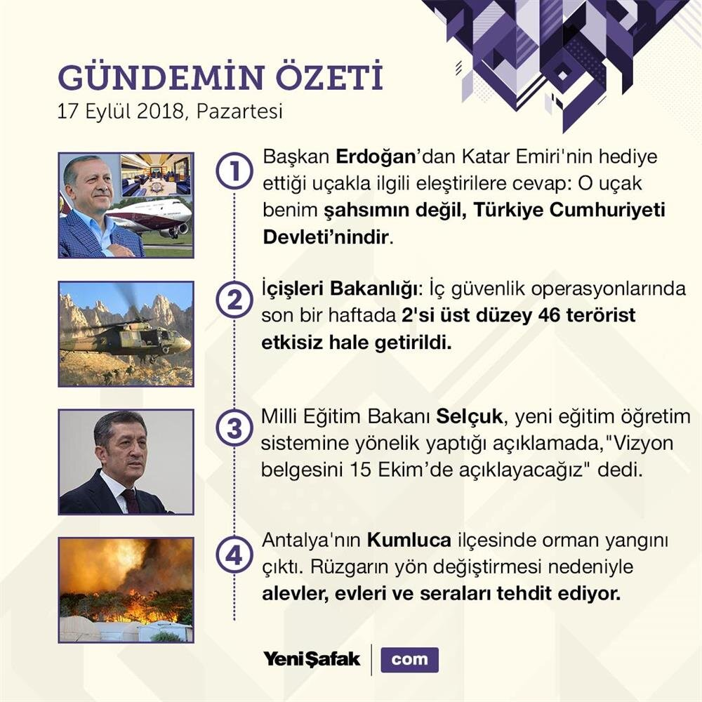 4 başlıkta Türkiye gündemi