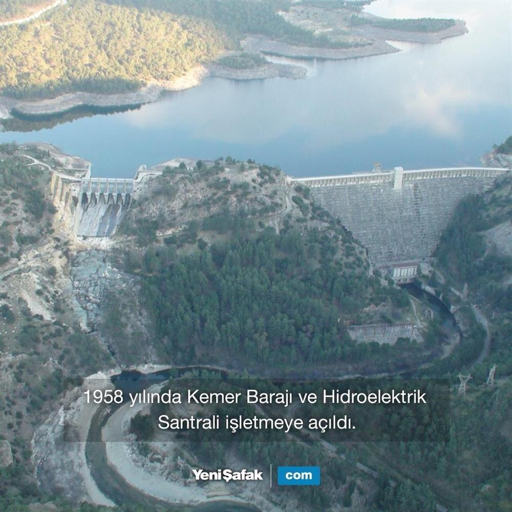Kemer Barajı açıldı.