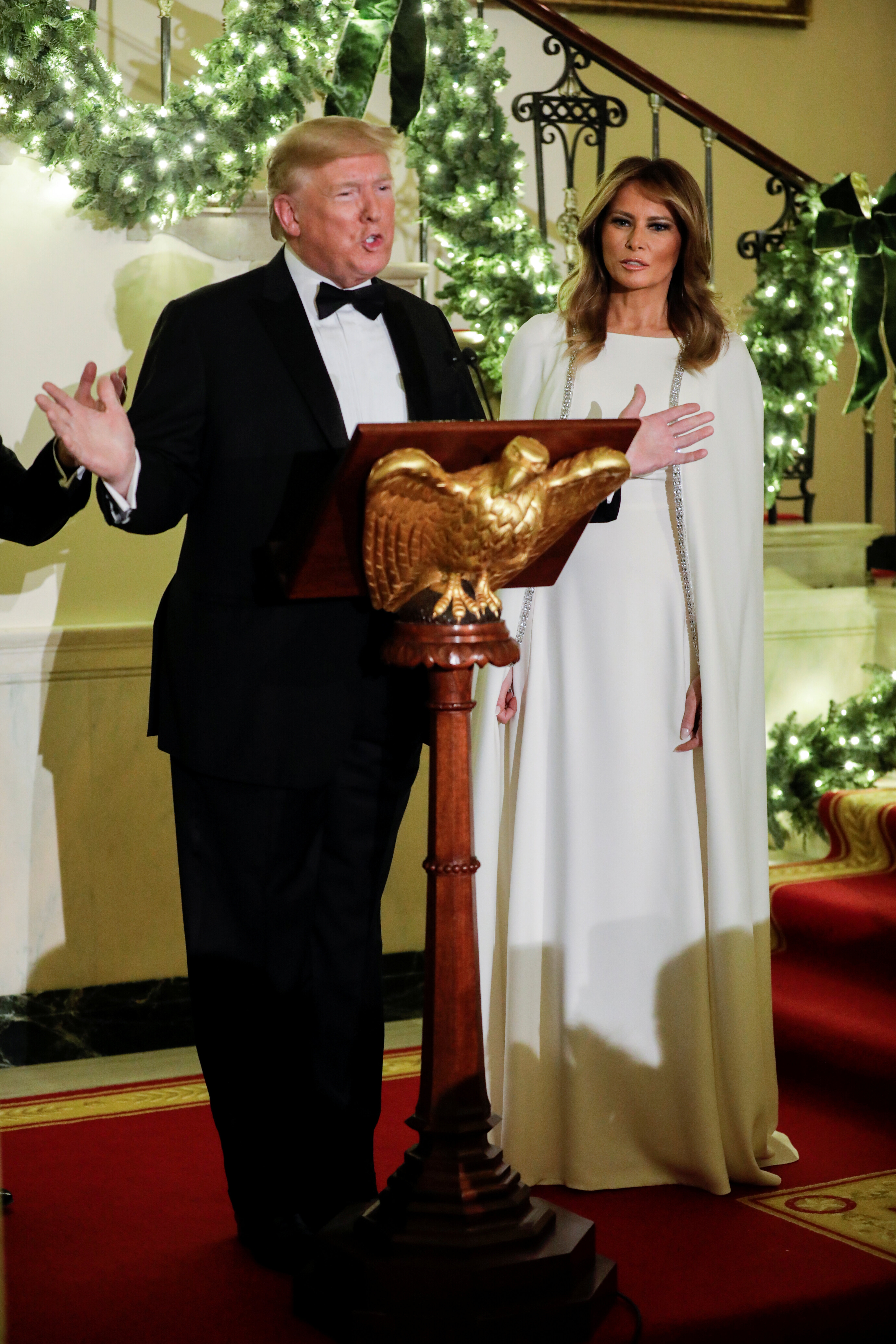 US President Donald Trump and First Lady Melania Trump at the Congressional Ball in Washington